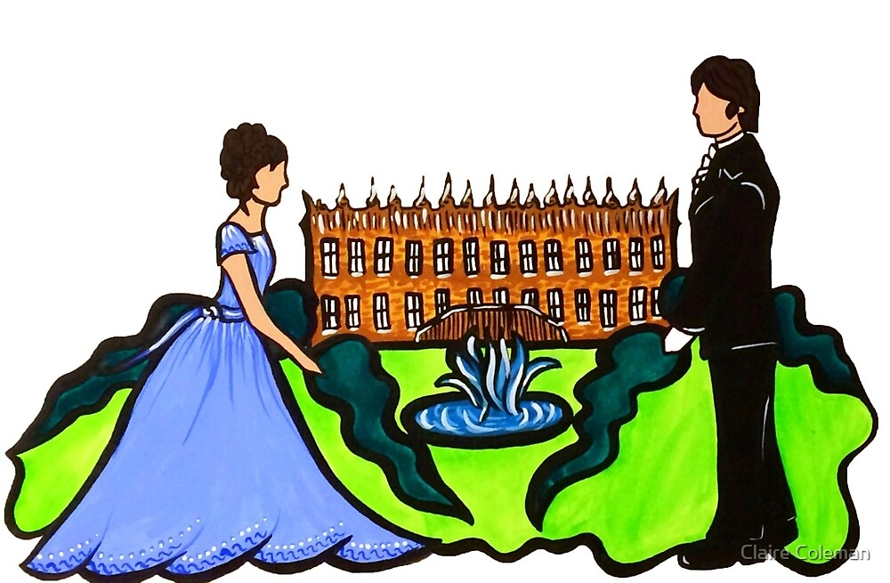 Pride and Prejudice Illustration - Elizabeth and Mr. Darcy by Claire Coleman