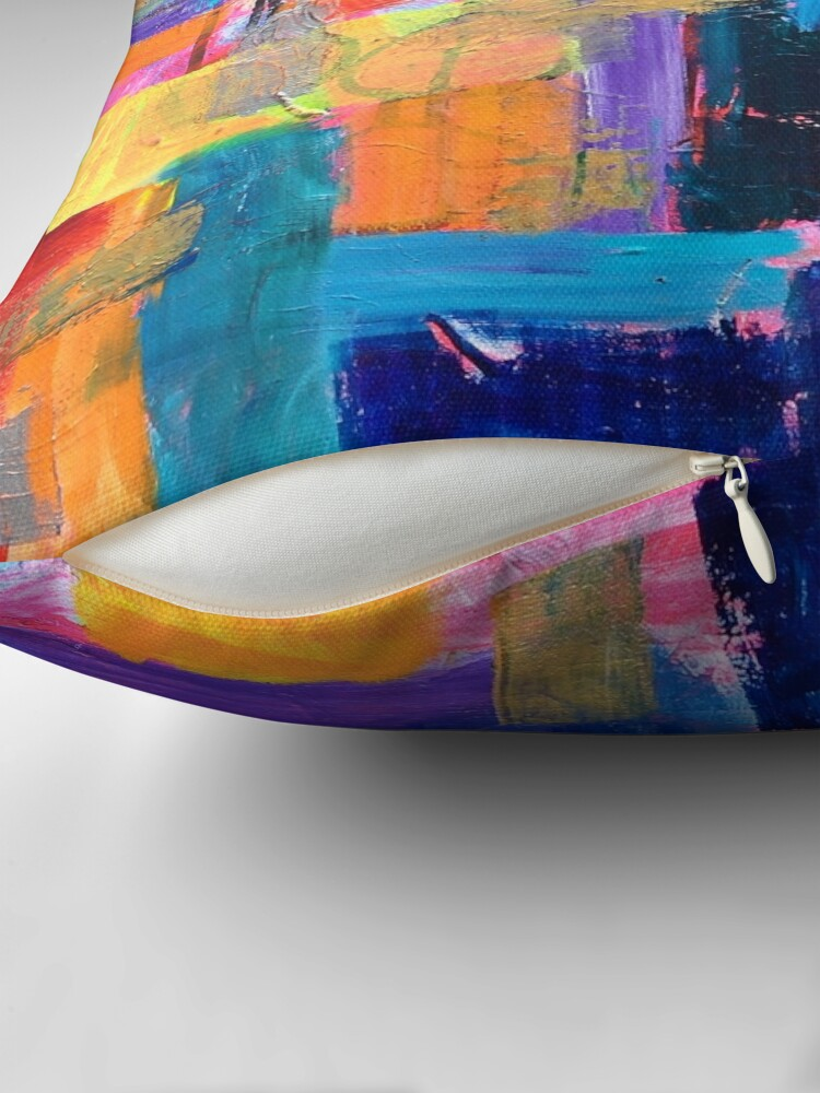 Alternate view of Color Study: Fall Throw Pillow
