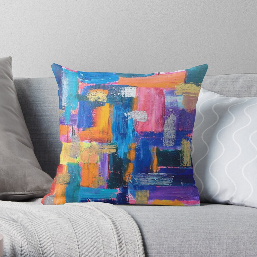 Color Study: Fall Throw Pillow