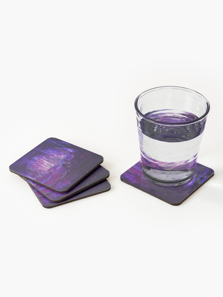 Alternate view of Amethyst Forest Coasters (Set of 4)