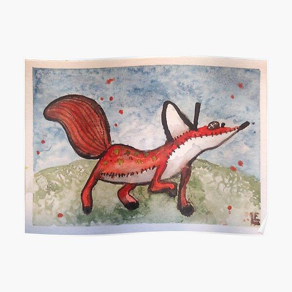 Beher le petit prince renard - Le Petit Prince aquarelle Poster