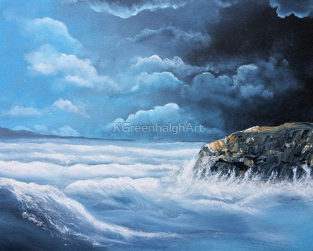 Stormy Sea by KGreenhalghArt