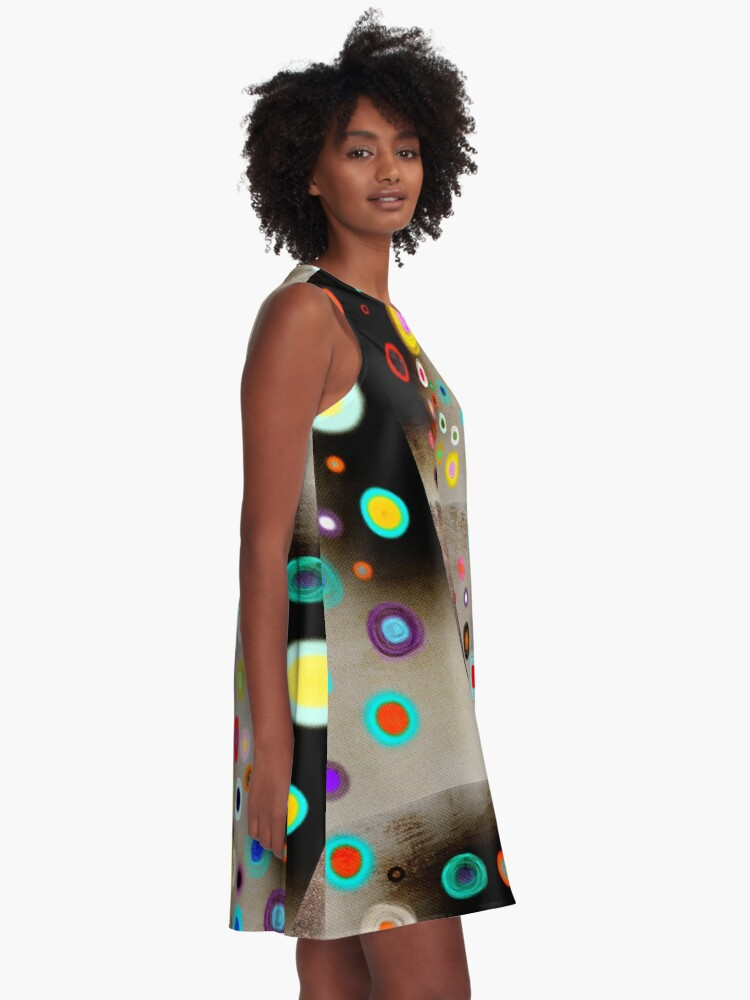 Alternate view of Poppies colorful Snow Landscape A-Line Dress