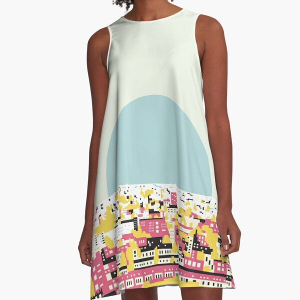 Rooftop view A-Line Dress