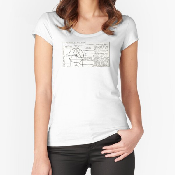 faulty schematic of a broken machine Fitted Scoop T-Shirt