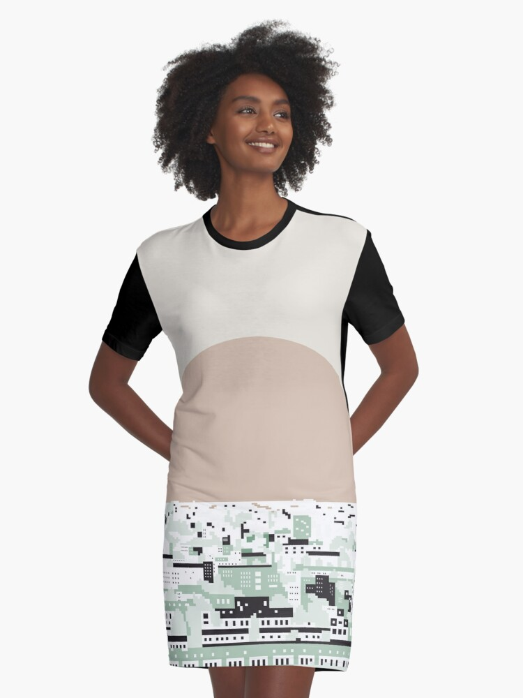 Rooftop view 2 Graphic T-Shirt Dress Front