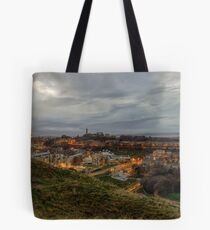 The City of Edinburgh from the Crags Tote Bag