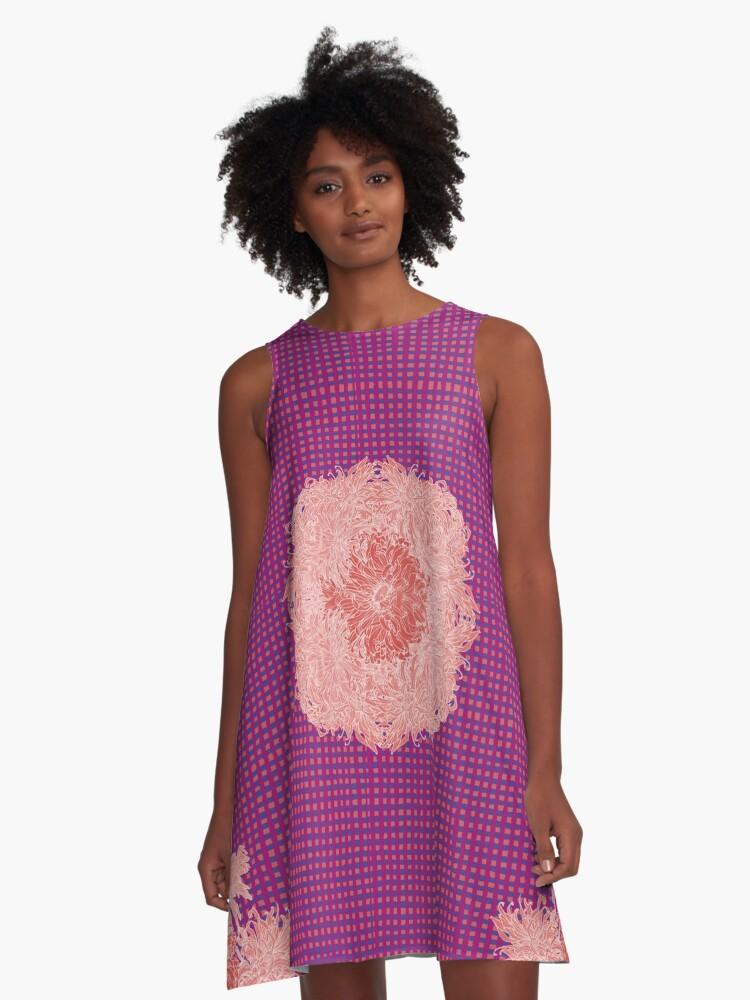 Chrysanthemum A-Line Dress Front