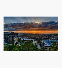 Edinburgh Sunset from Calton Hill Photographic Print