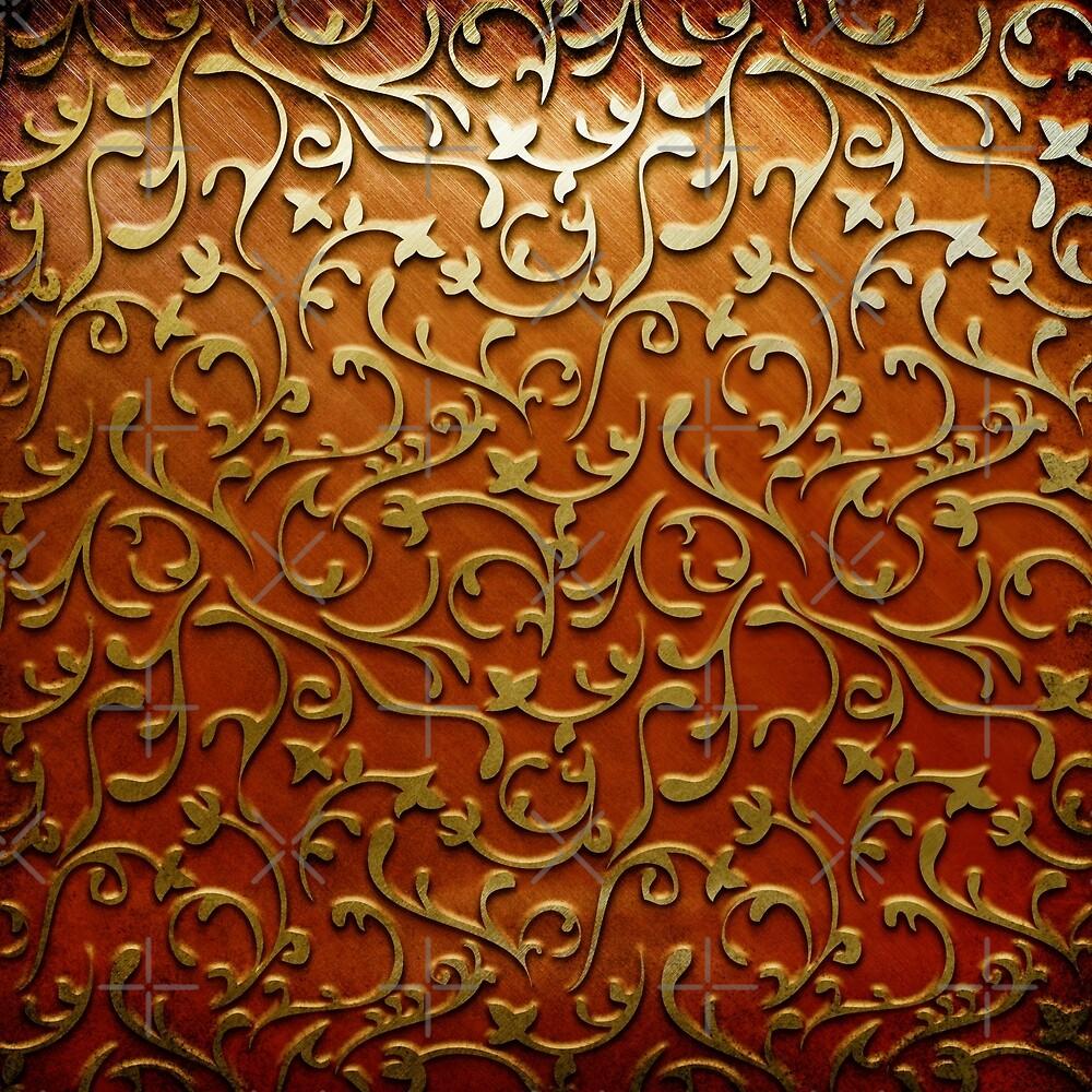 Arabic gold flower by foxxya