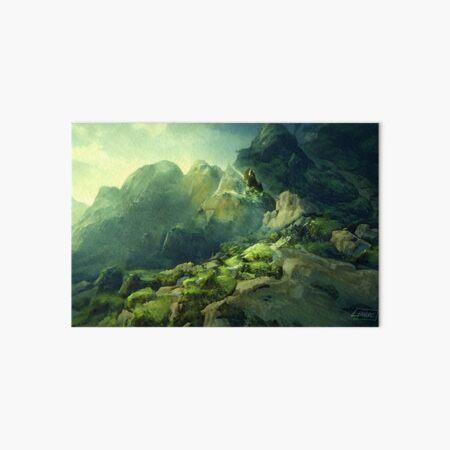 Rocky Mossland Landscape Art Board Print