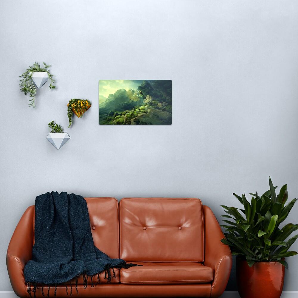 Rocky Mossland Landscape Metal Print