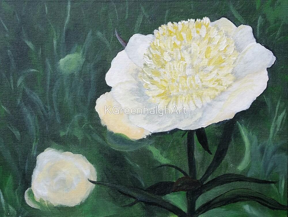 Cream Flower by KGreenhalghArt