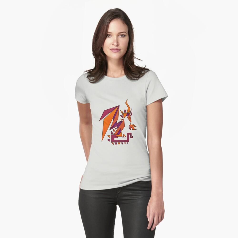 Geometric Dragon Womens T-Shirt Front