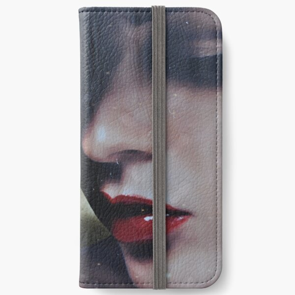 a moody lady  iPhone Wallet