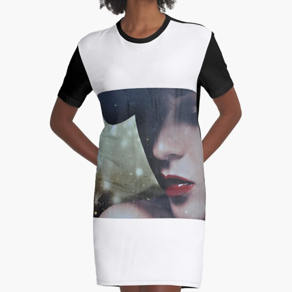 a moody lady  Graphic T-Shirt Dress