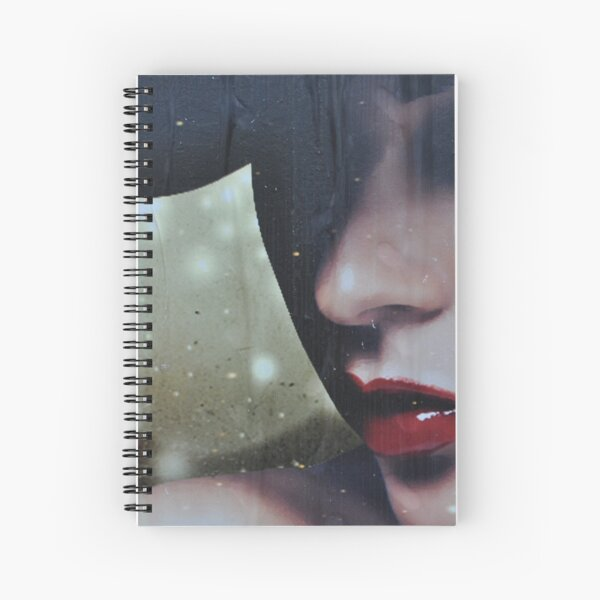 a moody lady  Spiral Notebook