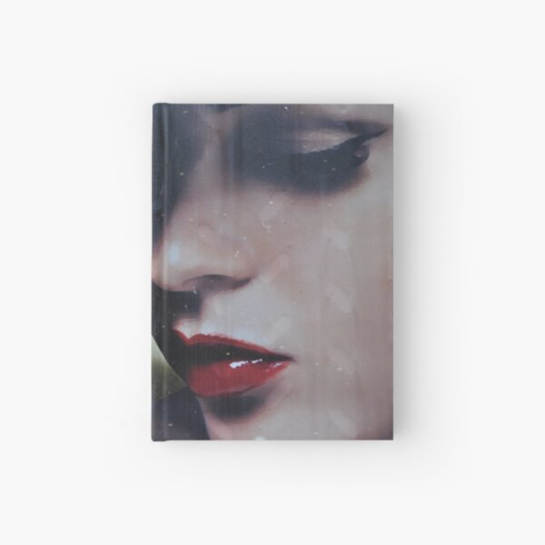 a moody lady  Hardcover Journal
