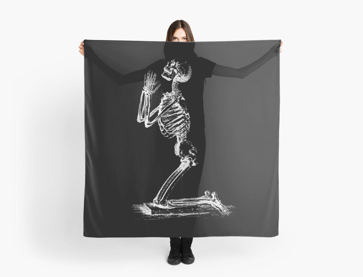 Kneeling Skeleton Print  by lafayettecanada