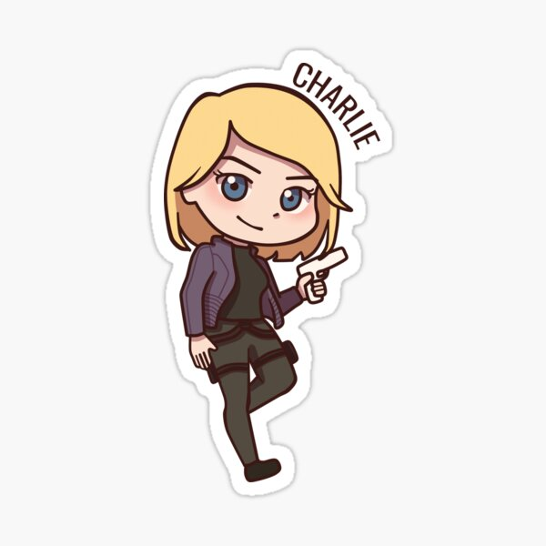 Charlie Chibi (with name) Sticker