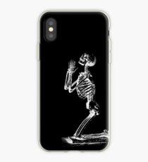 Kneeling Skeleton Print  iPhone Case