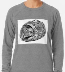 Diogenes surreal pen ink black and white drawing Lightweight Sweatshirt