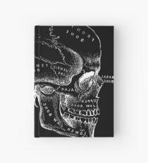 Cuaderno de tapa dura Vintage Anatomy: cráneo
