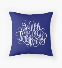 Wibbly Wobbly White Throw Pillow