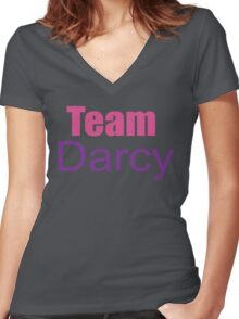 Team Darcy Women's Fitted V-Neck T-Shirt