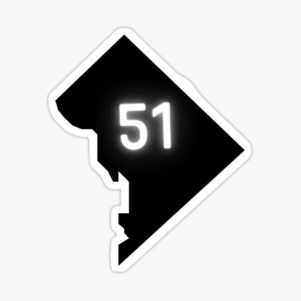 Washington, D.C. Statehood   HR 51   Representation Matters Sticker