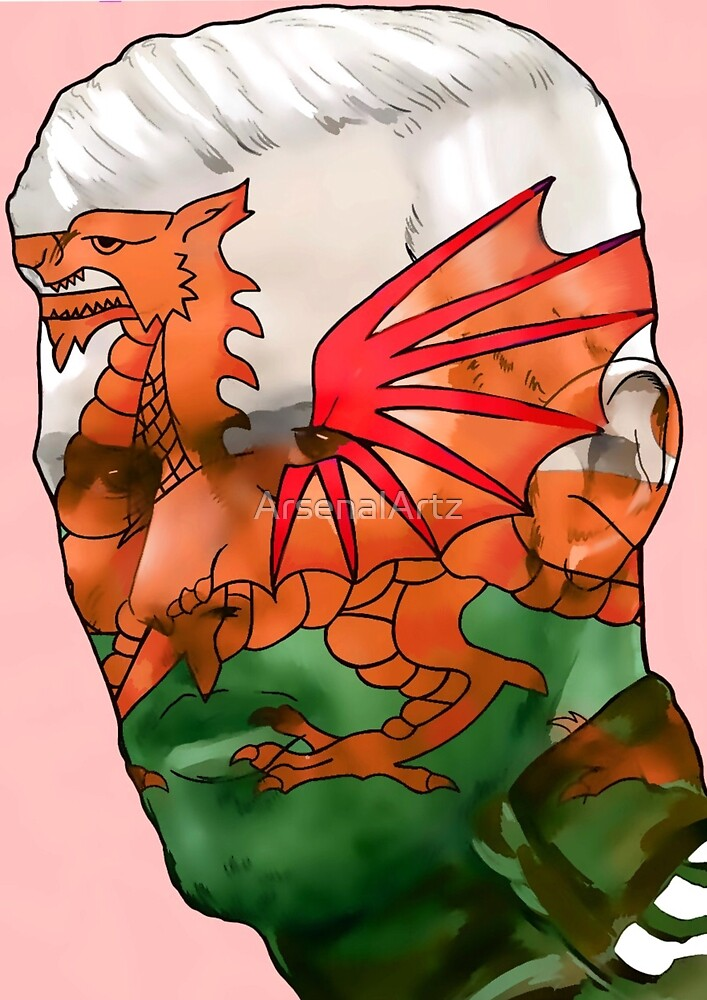 Aaron Ramsey - Welsh Dragon by ArsenalArtz