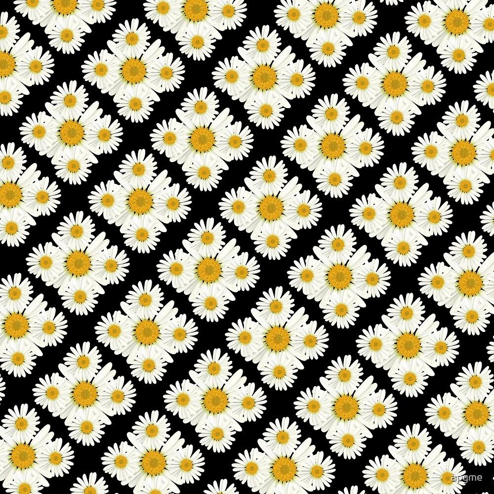 Daisy On Daisy Diamond Pattern by apgme