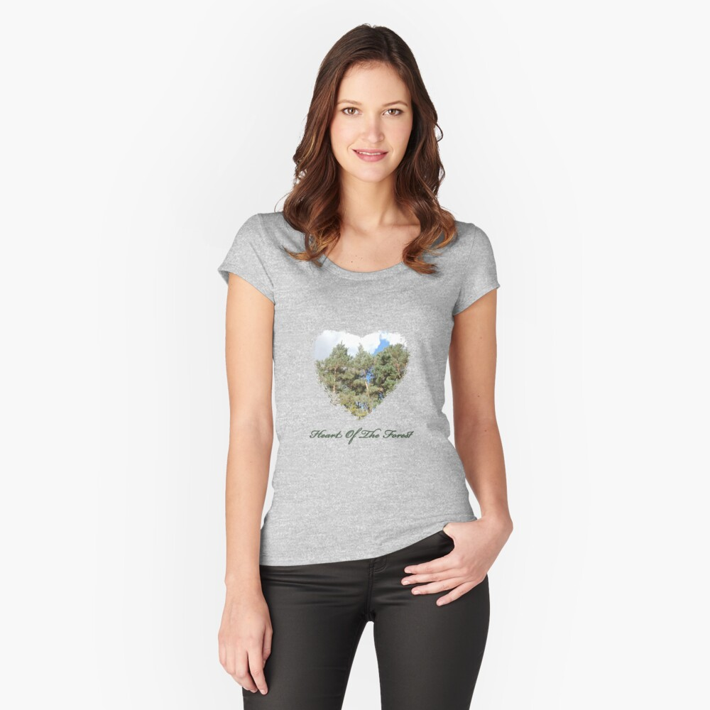 Heart Of The Forest Women's Fitted Scoop T-Shirt Front