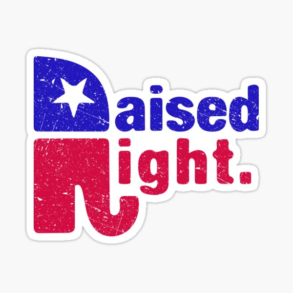 Levantado a la derecha - Elefante republicano Pegatina