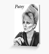 Joanna Lumley plays Patsy Greeting Card