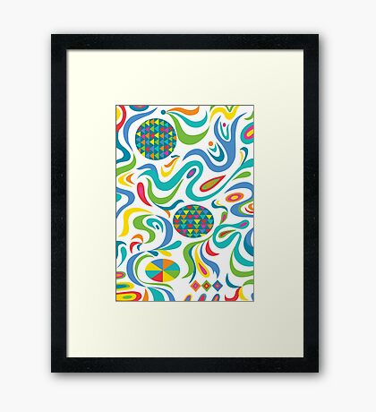 Cartwheel white Framed Print