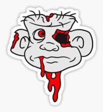 kopf gesicht zombie ekelig horror halloween comic cartoon lustig blut untoter  Sticker