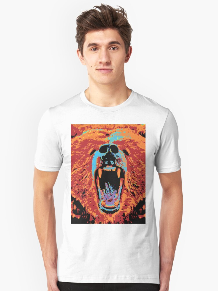 Grizzly Pop Unisex T-Shirt Front