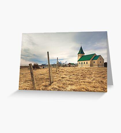 Field Church Greeting Card