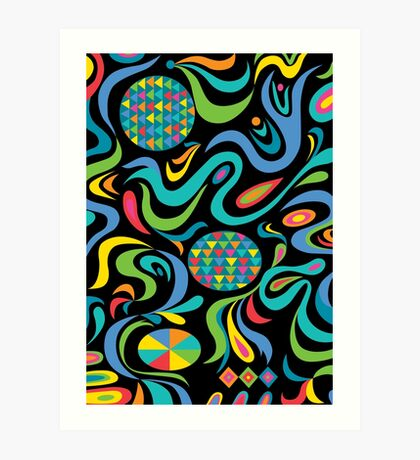 Cartwheel Black Art Print