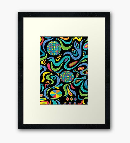 Cartwheel Black Framed Print
