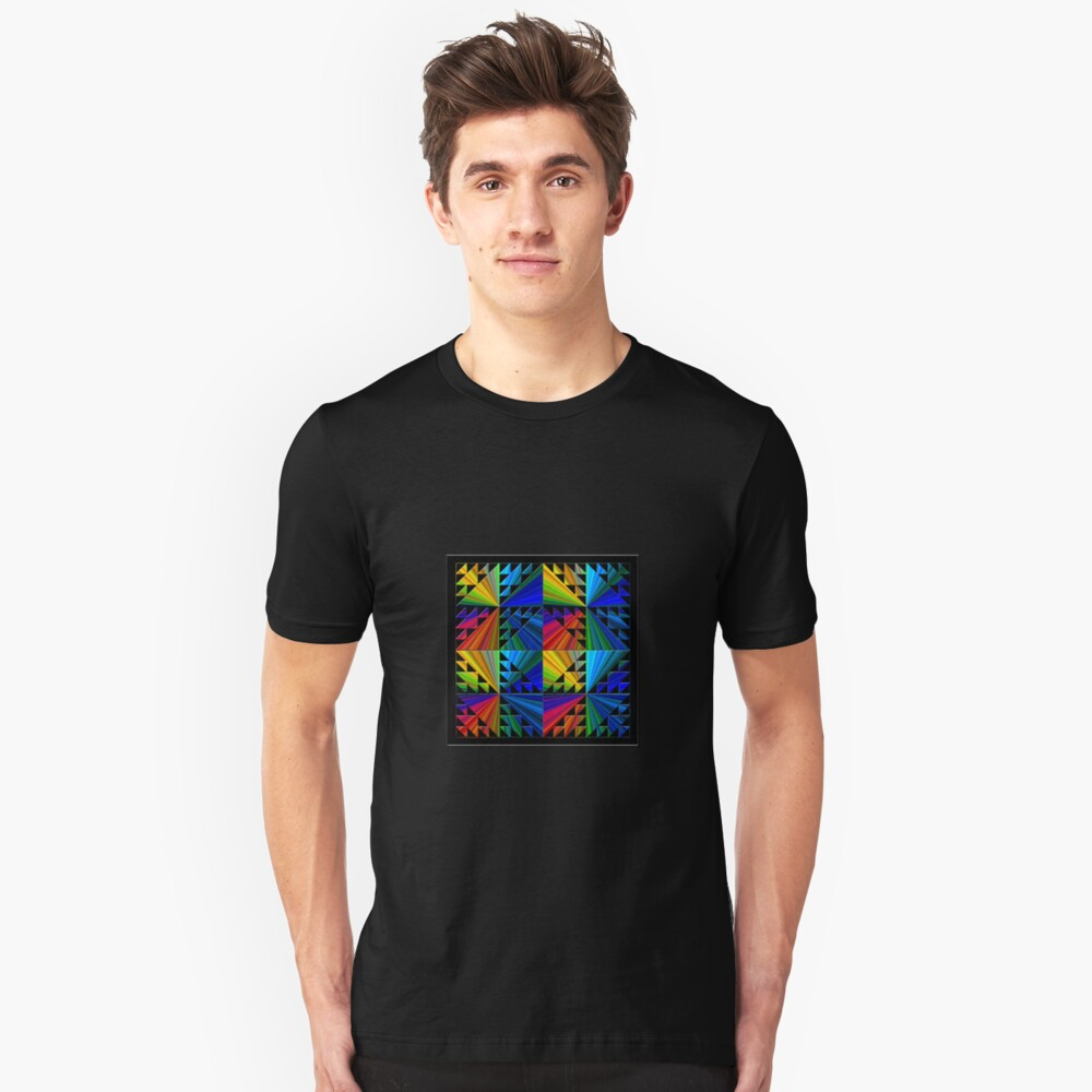 Colorful Psychedelic Pattern Unisex T-Shirt Front