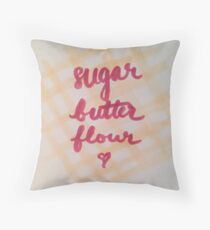 sugar, butter, flour Throw Pillow