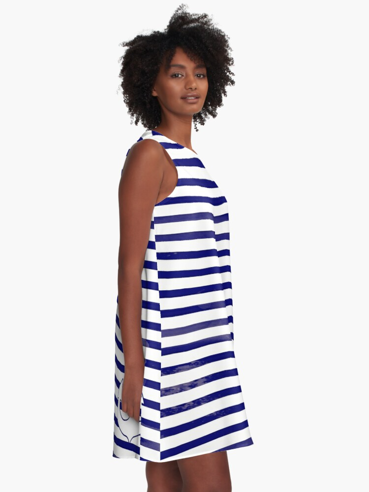 Alternate view of The blue anchor A-Line Dress