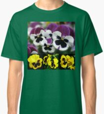 Cute Pansies Collage Classic T-Shirt