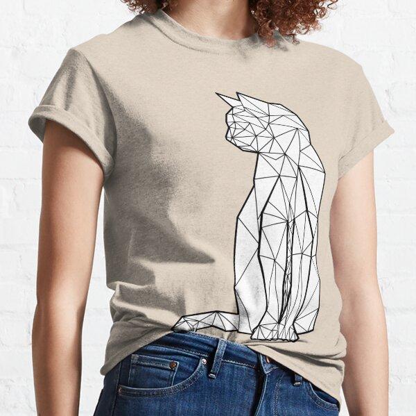 Geometrische Kat Classic T-Shirt
