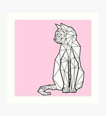 Lámina artística Gato geométrico