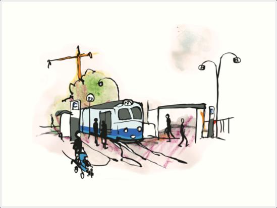 Tram stop in Göteborg - Sweden by Rebecca Landmér