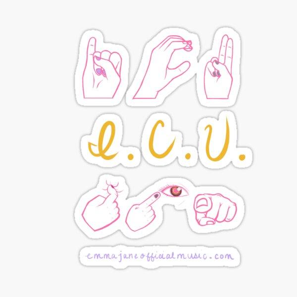 ICU/I SEE YOU | Stickers Sticker