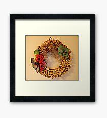 Cork Wreath Framed Print
